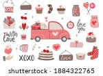set of valentine's day bohemian ... | Shutterstock .eps vector #1884322765