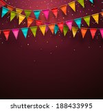 Festive background with flags, eps 10