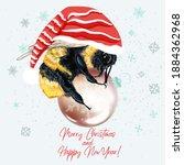 christmas vector illustration... | Shutterstock .eps vector #1884362968