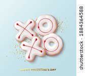 happy valentine's day card.... | Shutterstock .eps vector #1884364588