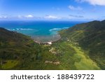 overlooking hawaii's lush green ... | Shutterstock . vector #188439722