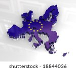 3d flag map of european union | Shutterstock . vector #18844036