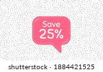 save 25 percent off. pink... | Shutterstock .eps vector #1884421525