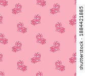 pink glitter pattern with... | Shutterstock .eps vector #1884421885