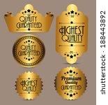 high quality label design over...   Shutterstock .eps vector #188443892