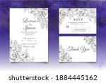 beautiful wedding invitation... | Shutterstock .eps vector #1884445162
