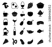 food icon set | Shutterstock . vector #188446052