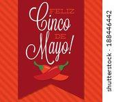 retro style cinco de mayo ... | Shutterstock .eps vector #188446442