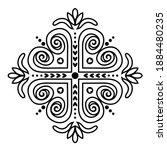 crosses ornament of swirling... | Shutterstock .eps vector #1884480235