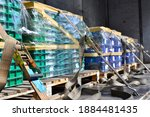 Truck Carrying Raw Material In...