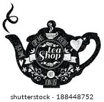 vintage cafe menu with a... | Shutterstock .eps vector #188448752