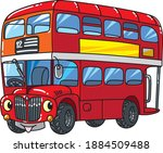 Funny Small Bus With Eyes.