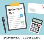 retirement plan concept  vector ... | Shutterstock .eps vector #1884513298