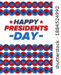 happy presidents day in united...   Shutterstock .eps vector #1884524992