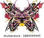 ornamental scary colored... | Shutterstock .eps vector #1884549445
