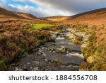 River Dargle, Glensoulan Valley, close to powerscourt waterfall, Wicklow way, Ireland.