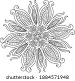 snowflake  coloring in a... | Shutterstock .eps vector #1884571948