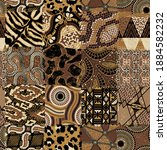 traditional african fabric and...   Shutterstock .eps vector #1884582232
