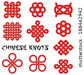 chinese knots  clover leaf ... | Shutterstock .eps vector #188462942