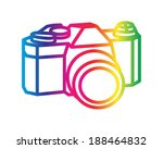 camera  object drawing in... | Shutterstock .eps vector #188464832