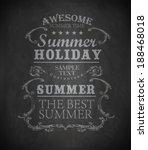 chalk elements for summer...   Shutterstock .eps vector #188468018