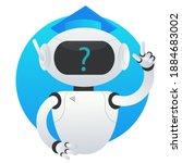 White Robot Chat Bot Helper...
