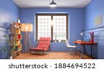 living room with rest zone and... | Shutterstock . vector #1884694522