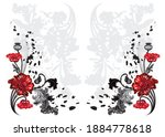 flower art for corners   corner ... | Shutterstock .eps vector #1884778618