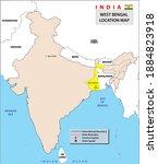 west bengal map. west bengal...   Shutterstock .eps vector #1884823918