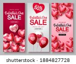 valentines day sale vector...   Shutterstock .eps vector #1884827728