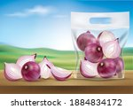 plastic bags to contain red... | Shutterstock .eps vector #1884834172