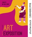 vector poster of art exposition ... | Shutterstock .eps vector #1884881998