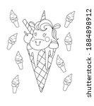 Unicorn And Ice Cream Cute...