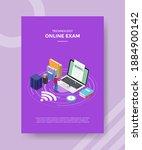 online exam concept men... | Shutterstock .eps vector #1884900142