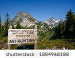 North Cascades Boundary Sign...