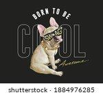 typography slogan with cartoon... | Shutterstock .eps vector #1884976285