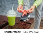 Green Detox Smoothie Cup And...