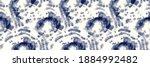 indigo tie dye swirl. blue... | Shutterstock .eps vector #1884992482