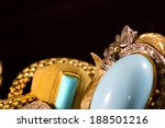 closeup of gold jewelery with... | Shutterstock . vector #188501216