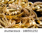 Closeup Of Yellow Gold Jewelery ...