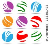 color flat ball shaped icon... | Shutterstock .eps vector #188501438