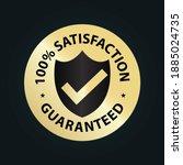 100  satisfaction guaranteed... | Shutterstock .eps vector #1885024735