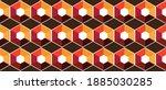 combination of hexagon forms a... | Shutterstock .eps vector #1885030285