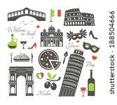 italy set | Shutterstock .eps vector #188504666