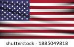 vector waving flag of usa   Shutterstock .eps vector #1885049818