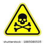 skull and crossbones  warning... | Shutterstock .eps vector #1885080535