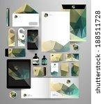 abstract polygonal business set....   Shutterstock .eps vector #188511728