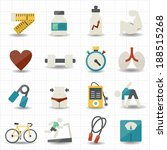 fitness and health care icons | Shutterstock .eps vector #188515268