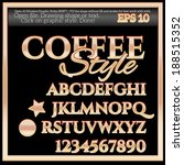 coffee graphic style | Shutterstock .eps vector #188515352
