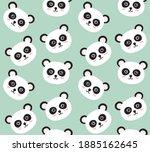 vector seamless pattern of flat ... | Shutterstock .eps vector #1885162645
